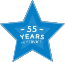 55 years in service